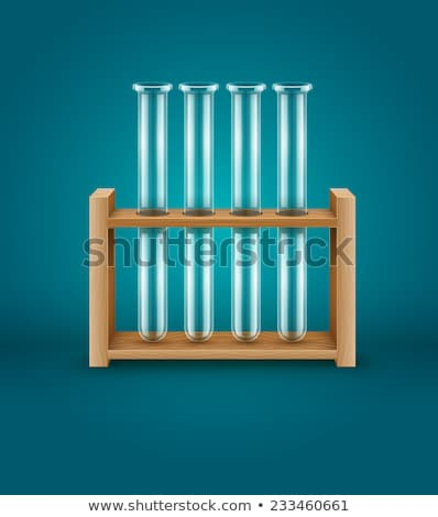 Test-tubes for medical laboratory analysis research in wooden support Stock photo © LoopAll
