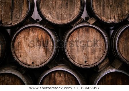 Borászat illusztráció lány alkohol konténer hordó Stock fotó © adrenalina