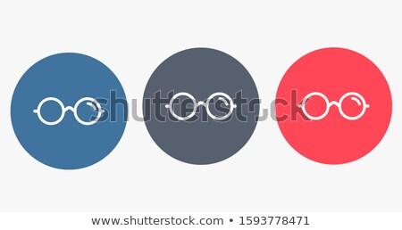 Látványosság kék vektor ikon terv digitális Stock fotó © rizwanali3d