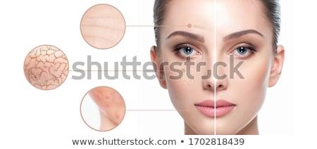 homem · olho · contorno · creme · beleza · cair - foto stock © NikiLitov