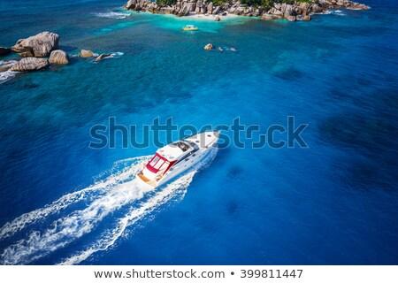 セーリング · ボート · オープン · 青 · 海 · 嵐の - ストックフォト © dolgachov