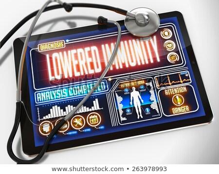 Lowered Immunity on the Display of Medical Tablet. Stock photo © tashatuvango