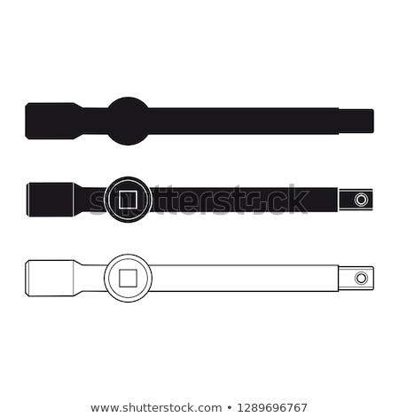 Stok fotoğraf: T Shape Handle Tubular Socket Bar Extension