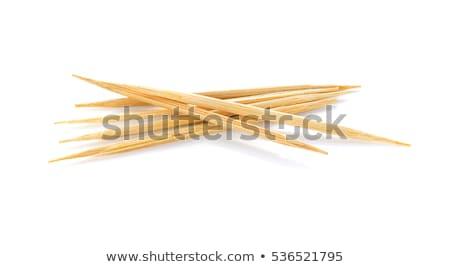 木製 グレー 洗浄 歯 食事 ストックフォト © juniart