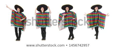 Csinos mexikói lány élénk izolált fehér Stock fotó © Elnur