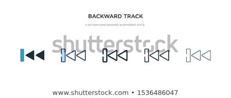 Müzik geri ikon vektör madeni dizayn Stok fotoğraf © Pinnacleanimates