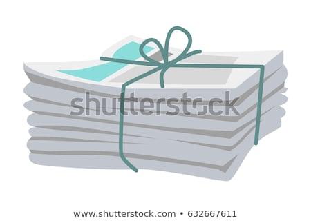 újság · főcím · üzlet · pénzügy · iroda · pénz - stock fotó © caimacanul