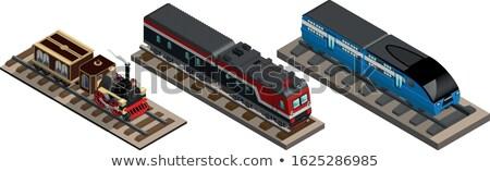 Retro locomotiva ferrovia transporte logística filme Foto stock © tracer