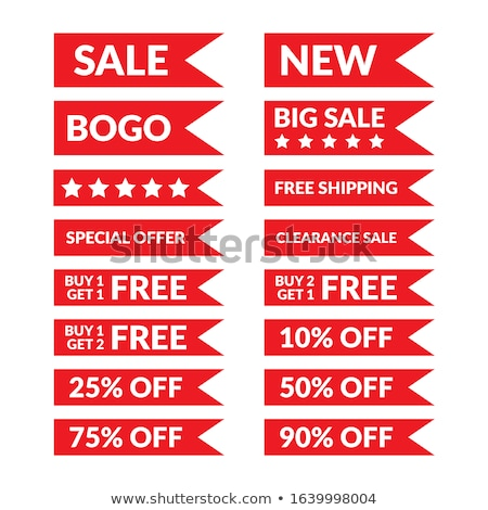 get 25 percent red vector icon design stock photo © rizwanali3d
