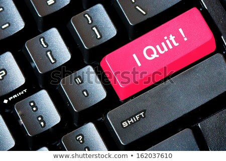 quit job button stock photo © fuzzbones0