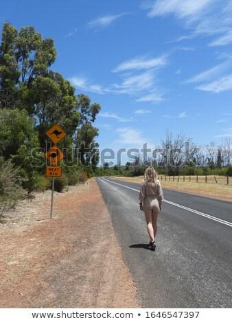 девушки · австралийский · эму · девочку · корзины · яблоки - Сток-фото © nizhava1956