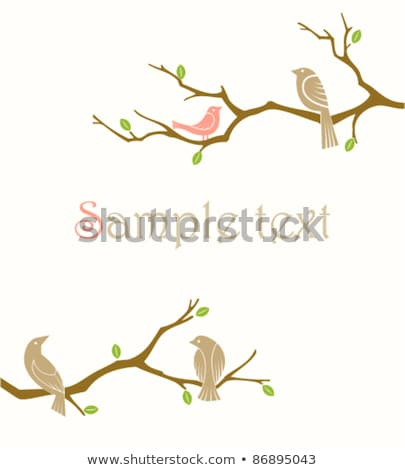 ravens on tree branch, vector  Stock photo © beaubelle