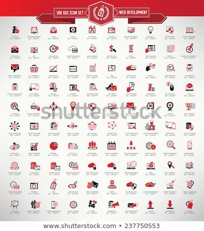 Protected Link Red Vector Icon Design Stock photo © rizwanali3d