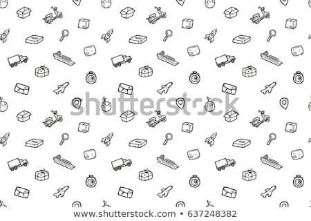 貨物 コンテナ船 アイコン チョーク 手描き ストックフォト © RAStudio