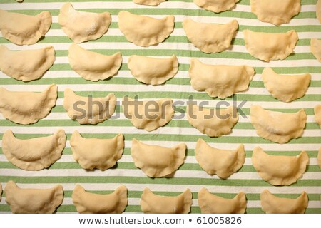raw dumplings - polish pierogi Stock photo © laciatek