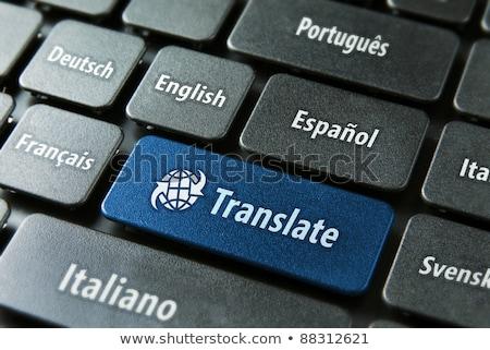 Linguagem solução chave educação boca língua Foto stock © Lightsource