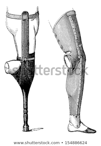 artificial legs for below knee amputation vintage engraving stock photo © morphart