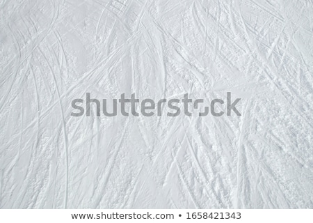 ski track on snow stock photo © kotenko