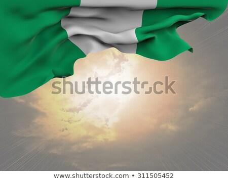 Bent icon with flag of nigeria Stock photo © MikhailMishchenko