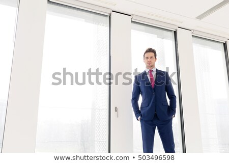 three standing young businessmen stock photo © paha_l