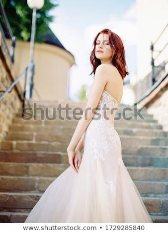 赤毛 白 スカート 美しい ピンク ストックフォト © disorderly