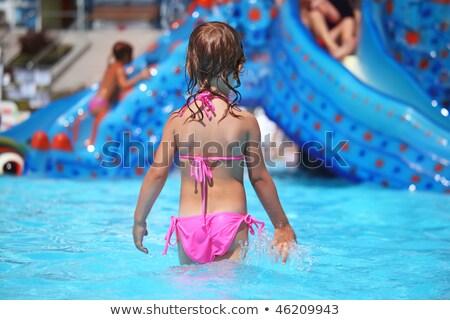gyerekek · aquapark · víz · nyár · jókedv · energia - stock fotó © paha_l