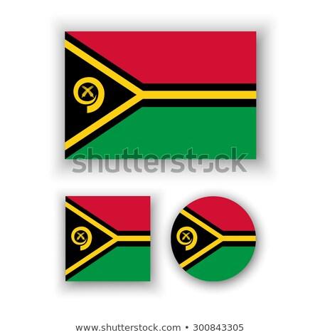 Praça ícone bandeira Vanuatu iso código Foto stock © MikhailMishchenko