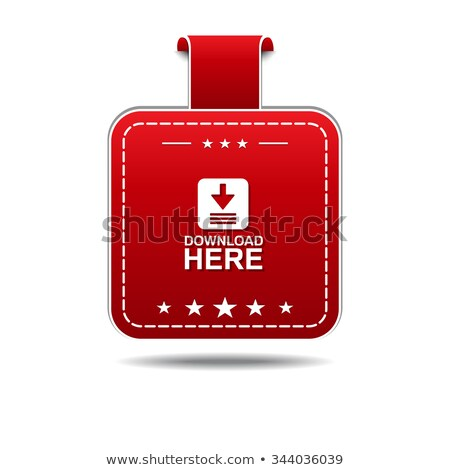 download here red vector icon designn stock photo © rizwanali3d