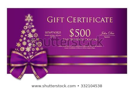 вектора · шаблон · дизайна · подарок · ваучер · сертификата - Сток-фото © liliwhite