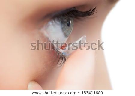 красивая женщина контактная линза белый кожи Сток-фото © wavebreak_media