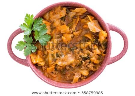 капуста · суп · продовольствие · фон · обеда · еды - Сток-фото © ozgur