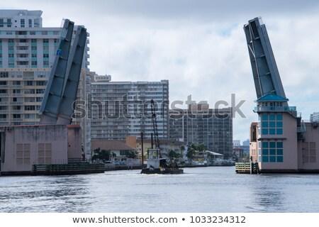 Toren trekken brug fort lauderdale USA 20 Stockfoto © meinzahn