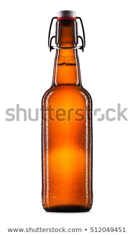 Brown swing top beer bottle on a white background Stock photo © Zerbor