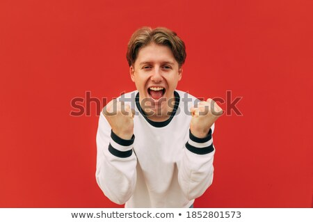 young positive teenager  in business attire Stock photo © zurijeta