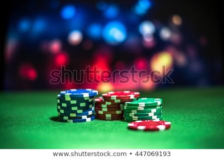 vonal · póker · hazárdjáték · sültkrumpli · kártyák · zöld - stock fotó © pokerman