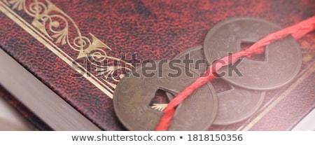 Antiguos chino libro página moneda dinero Foto stock © devon