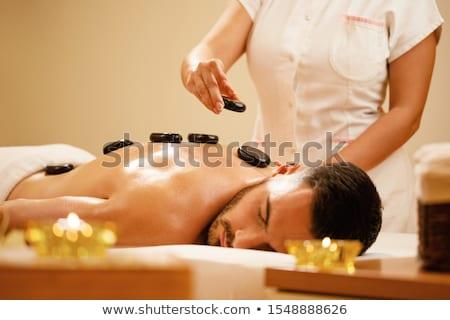 cabeça · ombros · massagem · estância · termal · salão · jovem - foto stock © dash