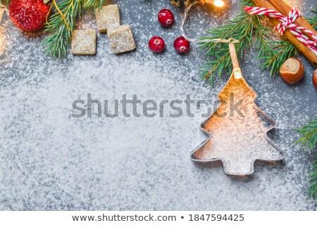 figa · cookie · trzy · biały · deser - zdjęcia stock © digifoodstock