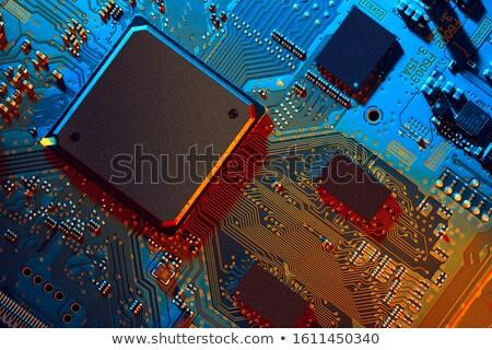 electronic parts closeup  Stock photo © OleksandrO