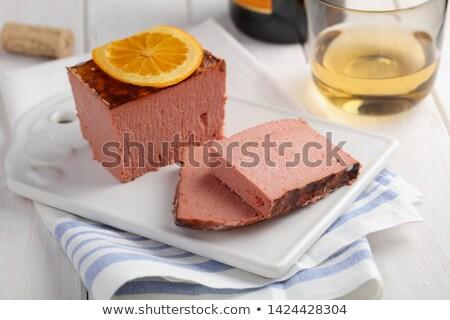 Borsikafű narancs hús tányér közelkép organikus Stock fotó © Digifoodstock