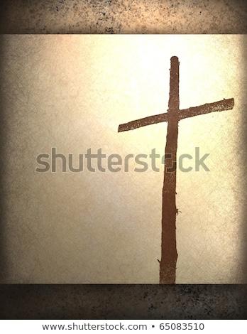 święty Christian krzyż Uwaga karty Zdjęcia stock © enterlinedesign
