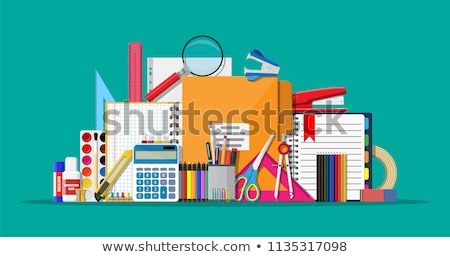 Kırtasiye ofis tablo iş kalem arka plan Stok fotoğraf © racoolstudio