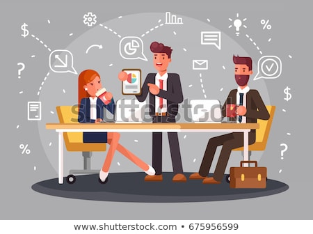 Business meeting style infographic Stock photo © bluering