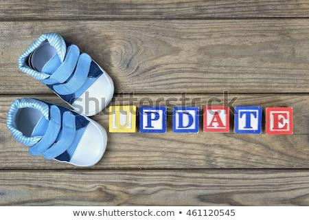 子供 靴 言葉 アップデート 時間 木製のテーブル ストックフォト © fuzzbones0
