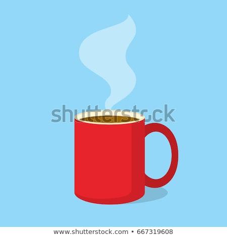 Colorido café ilustração branco folha fundo Foto stock © bluering