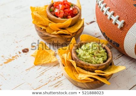 Tabeli kukurydza hot chip składnik przekąska Zdjęcia stock © M-studio