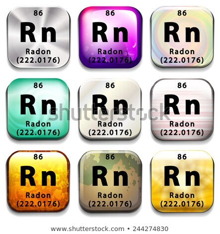 A periodic table showing Radon Stock photo © bluering