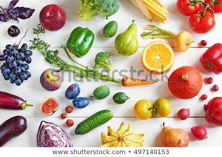 Renkli armut tablo taze bütün Stok fotoğraf © ozgur