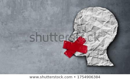 политический · цензура · красный · белый · интернет - Сток-фото © lightsource