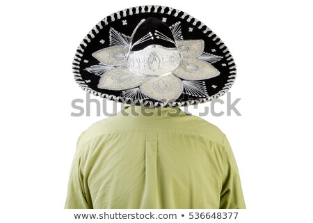 Rear view of man wearing Mexican sombrero Stock photo © ozgur